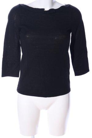 Schuhmacher Schlupf-Bluse schwarz Casual-Look