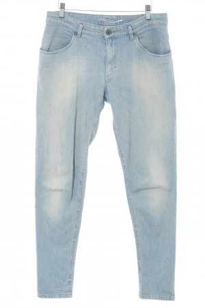 Schuhmacher Straight-Leg Jeans himmelblau Metallknöpfe