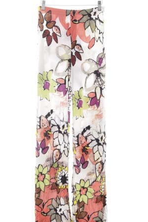 Schuhmacher Stretchhose florales Muster Casual-Look