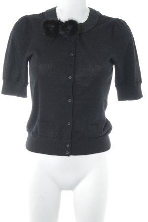 Schuhmacher Strickshirt schwarz extravaganter Stil