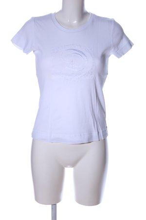 Schuhmacher T-Shirt weiß Schriftzug gestickt Casual-Look
