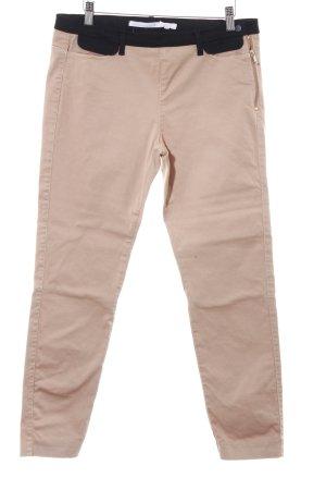 Schuhmacher Pantalon en laine noir-beige