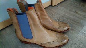 Schuhmann Stiefelette Chelsea Boots Gr.40 wie neu beige
