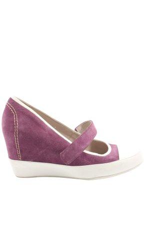 Schuhschachtel Tacones con plataforma lila-blanco look casual