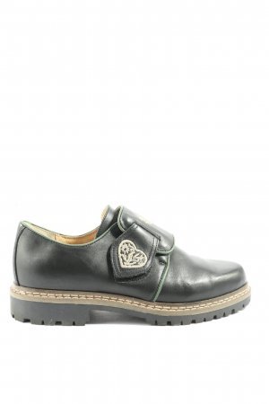 schuhtrachtler Zapatos Oxford con puntera negro look casual