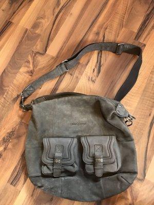 Schuhtzengel Taupe Handtasche Schultertasche Umhängetasche Bag Designer Luxus angelehnt an Swarovskisteinchen