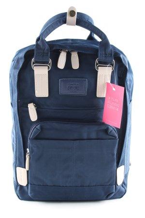 Schulrucksack blau-wollweiß Casual-Look