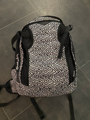 Satch School Backpack white-black