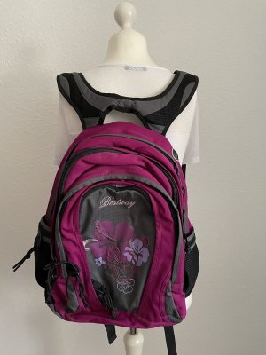 School Backpack black-violet