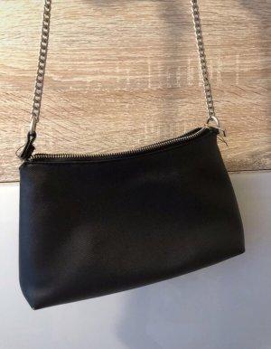 Bershka Shoulder Bag black-silver-colored