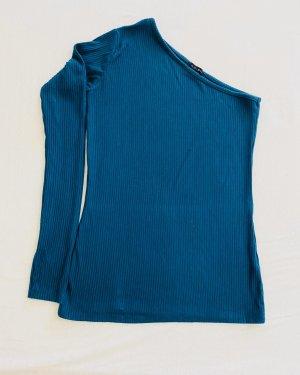 Amisu Stropdasblouse petrol-cadet blauw