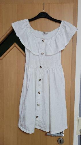 Asos Abito senza spalle bianco Cotone