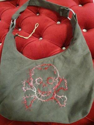 Hand made Sac en toile gris-rose