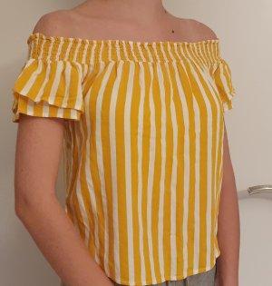 collection pimkie Top spalle scoperte bianco-giallo-oro