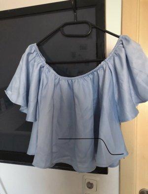 Moking Top Bluzka typu carmen błękitny