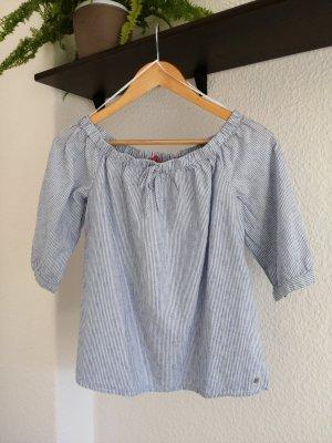 Davantino (per blusa) bianco-azzurro