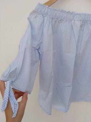 H&M Off-The-Shoulder Top natural white-azure