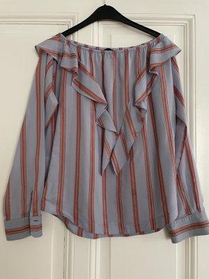 Pinko Bluzka typu carmen jasnoczerwony-błękitny