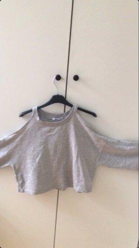 Bershka Colletto camicia grigio chiaro