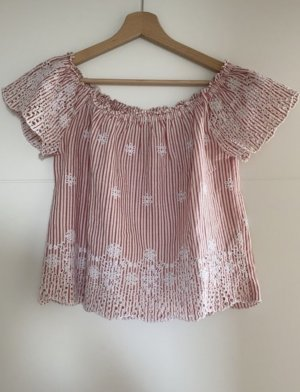 Hollister Lace Blouse pink-oatmeal