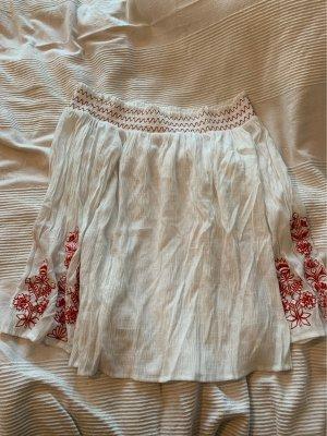 Blusa estilo Crash blanco-rojo oscuro