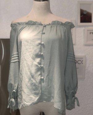 Primark Blusa de manga larga verde grisáceo