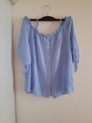 Colloseum Camicia blusa bianco-celeste