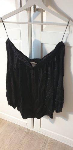 H&M Blusa in seta nero