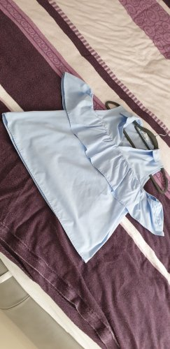 Schulterfreie Bluse mit kragen