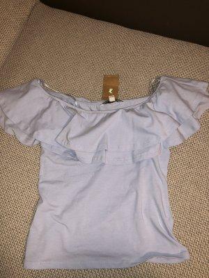 Schulterfreie Bluse mit Rüschen