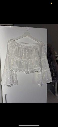 Schulterfreie Bluse von Bershka