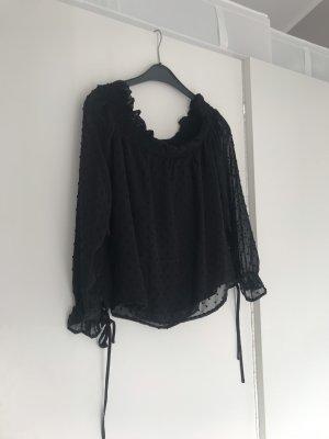 H&M Top spalle scoperte nero