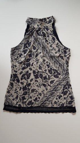 More & More Blusa de túnica gris claro-azul oscuro