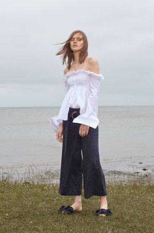 Victoria  Victoria Beckham Carmen blouse wit Katoen