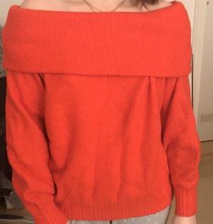 H&M Polarowy sweter czerwony-ceglasty