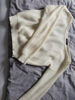 Bohoo Knitted Sweater white