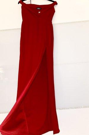 Schulterfreies Abendkleid mit Seitenschlitz gr. L