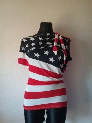 Schulterfreies Amerika Shirt