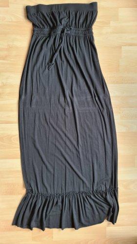 Schulterfreies Jersey Maxi-Kleid