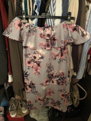 Melrose One Shoulder Dress light grey-rose-gold-coloured