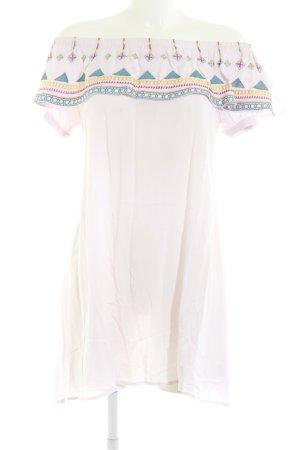 JCL schulterfreies Kleid mehrfarbig