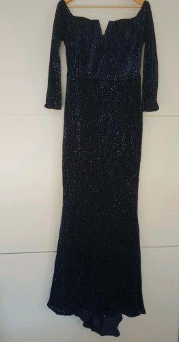 Schulterfreies Kleid (Blau)