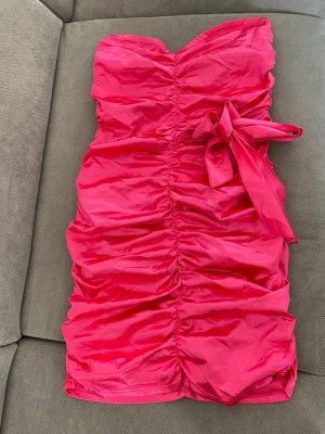 SheIn Robe épaules nues rose-rose fluo