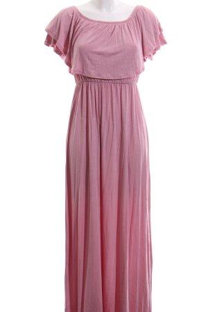 schulterfreies Kleid rosa schlichter Stil