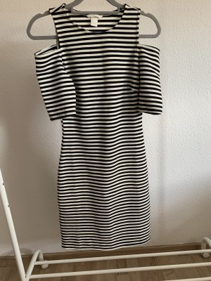 H&M Pencil Dress black-natural white