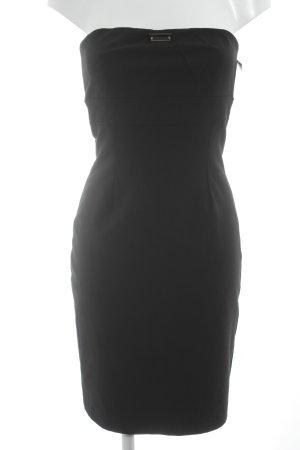 schulterfreies Kleid schwarz Elegant