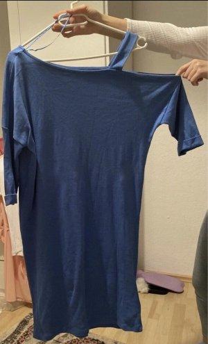 New Yorker Vestido de un hombro azul neón