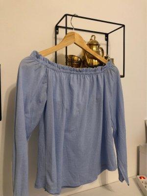 Bershka Haut long bleu azur