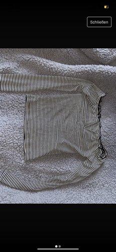 Amisu Top asymétrique noir-blanc