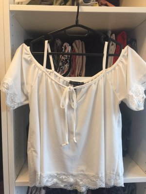 Amisu Camisa recortada blanco